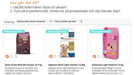 Prenumerera Hundfoder Pets Online