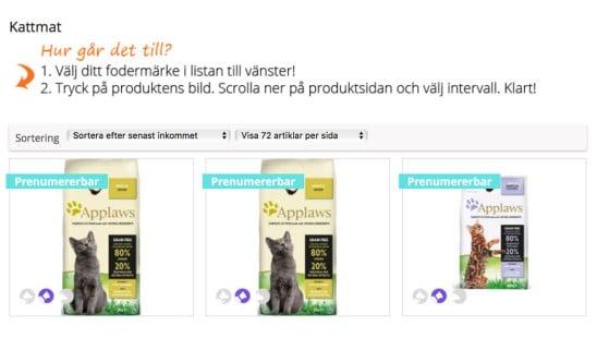 Prenumerera Kattmat Pets Online