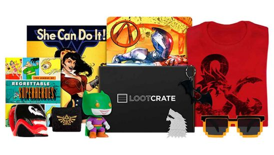 Lootcrate t-shirts prylar