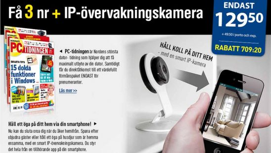 Bonnier PC TIDNINGEN + IP camera premie