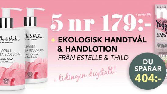 Prenumeration mama Ekologisk handtvål handlotion Estelle & Thild Tidning Premie