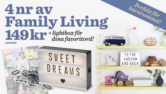 Prenumeration Family Living Lightbox Premie