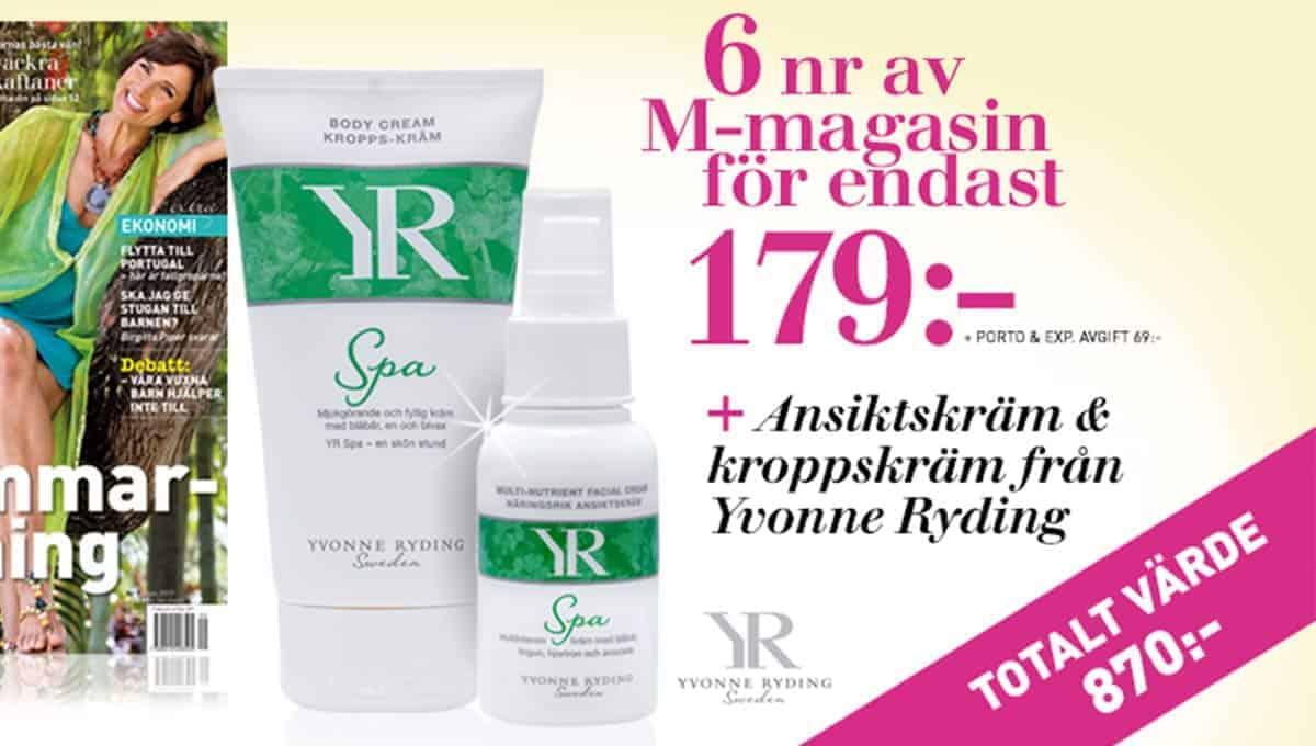 M-magasin - Ansiktskräm och kroppskräm från Yvonne Ryding som Premie