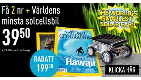 Prenumeration National Geographic + Solar Car Premie