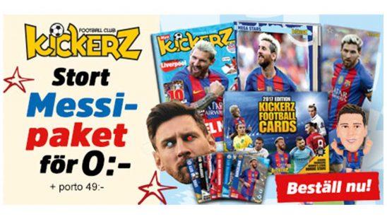 Prenumeration Tidningen Kickerz Messi Paket Premie
