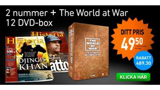 Prenumeration Världens HISTORIA + The World at War, DVD-box Premie