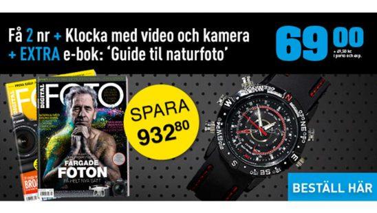 Prenumeration Tidning Digital FOTO + Snygg klocka med inbyggd kamera Premie