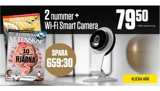 Prenumeration Illustrerad Vetenskap + Wi-Fi övervakningskamera Tidning Premie