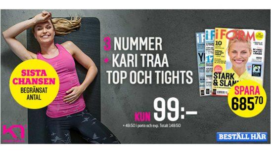 Prenumeration I FORM + Kari Traa topp och tights Premie