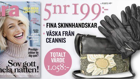 Prenumeration Tara + Väska från Ceannis & skinnhandskar som Premie