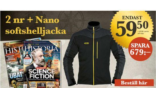 Prenumeration Allt om Historia + Chill Factor Nano jacka Premie