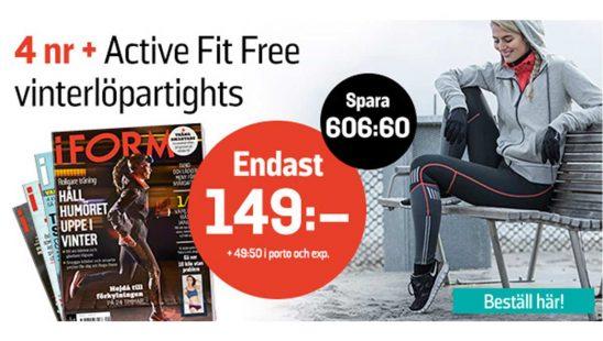 Prenumeration Tidning I FORM + Active Fit Vinterlöpartights Premie
