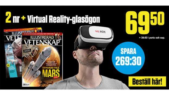 Illustrerad Vetenskap + Virtual Reality 3D-glasögon premie
