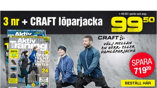 Tidning Aktiv Träning + Craft Prime löparjacka Premie