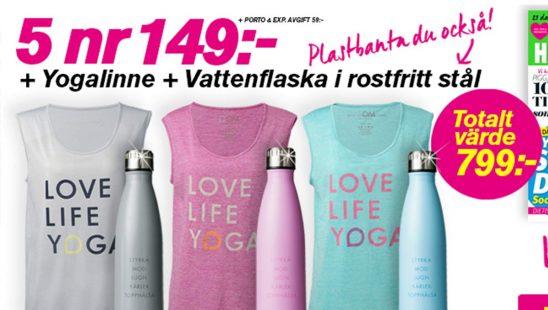 Prenumeration Topphälsa Yogalinne Vattenflaska Premie