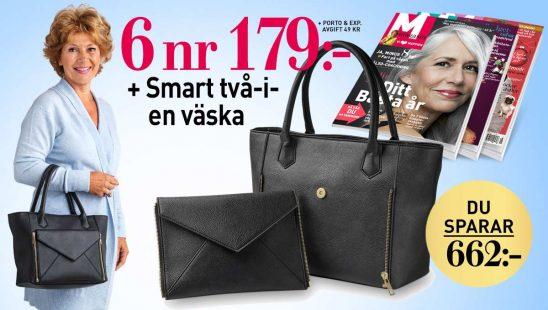Prenumeration M-magasin 6nr + Smart två-i-en väska premie