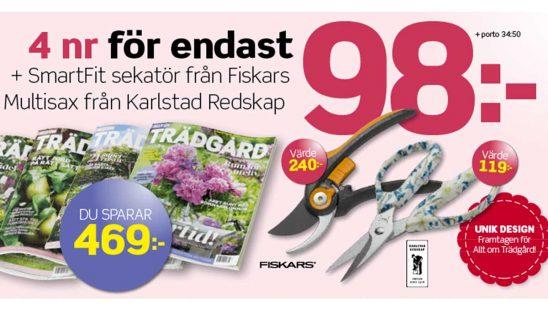 Prenumeration Allt om Trädgård Sekatör & Multisax Tidning Premie