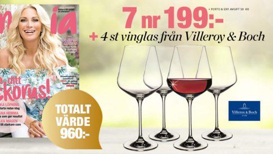 Prenumeration Amelia 4 st vinglas från Villeroy & Boch Premie