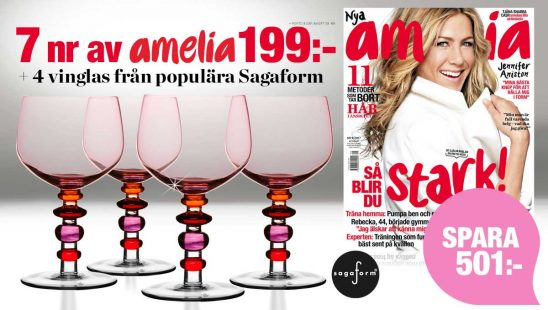 Amelia Prenumeration 4 vinglas från Sagaform som Premie