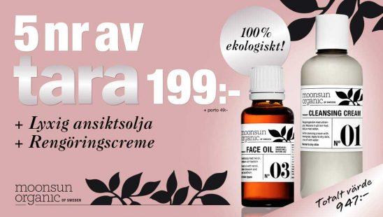 Tara + Ekologiska hudvårdsprodukter från Moonsun Organic Premie