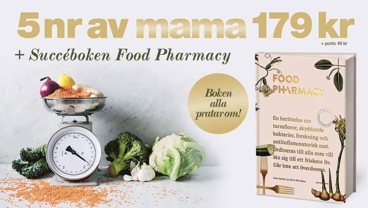 Prenumeration Tidningen mama boken Food Pharmacy Premie