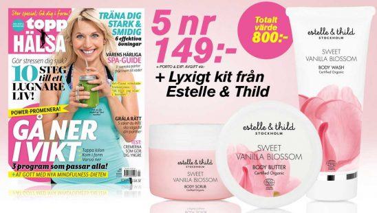 Prenumeration ToppHälsa Estelle Thild Premie