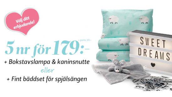 Prenumeration Vi Föräldrar + Bokstavslampa, Kaninsnutte & Påslakanset som premie