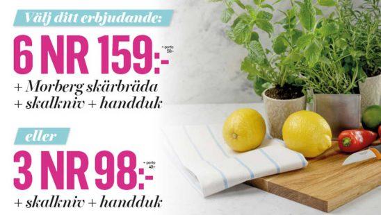 Allt om Mat och Morberg skärbräda i ek, en skalkniv från Fiskars och en Klassisk kökshandduk som premie