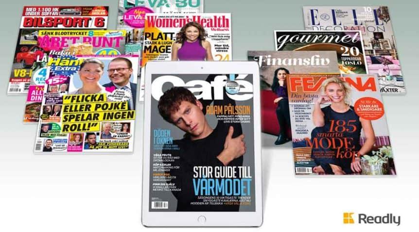 Readly är mer och mer av tidskrifternas upplagor