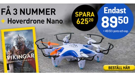 Tidning National Geographic Hover Drone Nano Premie