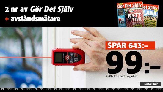 Prenumeration Tidning Gör Det Själv + Professionell laser avståndsmätare som premie