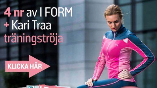 Prenumeration I FORM + Kari Traa Mette Träningströja Tidning Premie