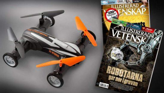 Prenumeration Illustrerad Vetenskap - Hybrid Dronecar Premie