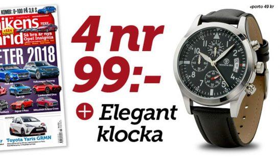 Prenumeration Teknikens Värld + Elegant Armbandsklocka Premie