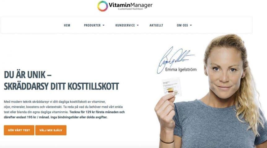 Hälsa Invest blir delägare i kosttillskottbolaget Vitamin Manager