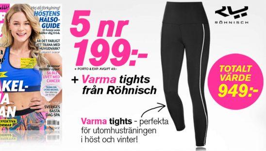 Prenumeration ToppHälsa + Varma tights från Röhnisch som Premie