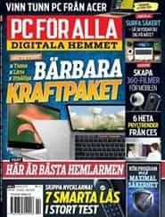 Prenumerera 12 nummer av PC för Alla