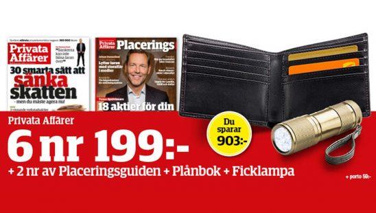 Privata Affärer + Plånbok & Ficklampa som premie.