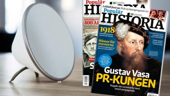 Prenumeration på Populär Historia + Sonitum Bluetooth-högtalare som premie